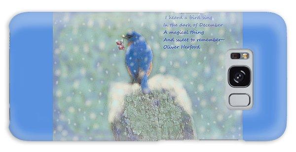 Song Birds Galaxy Case - Winter Blue Bird by Angela Davies