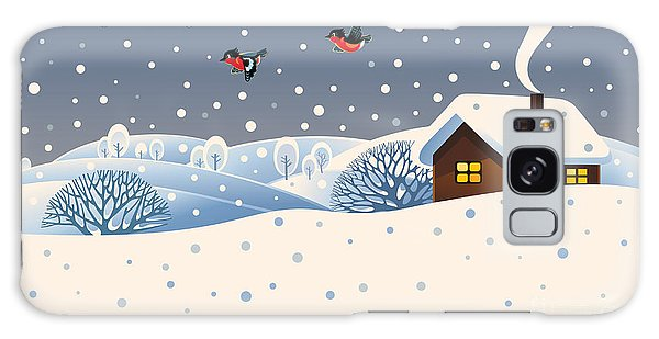 Event Galaxy Case - Winter Landscape With Country House And by Rustic