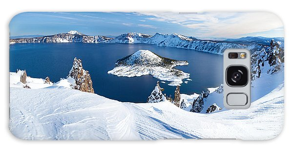 Usa Galaxy Case - Winter Scene At Crater Lake Volcano by Matthew Connolly