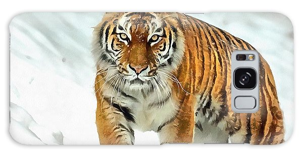 Galaxy Case featuring the painting Winter Tiger by Harry Warrick