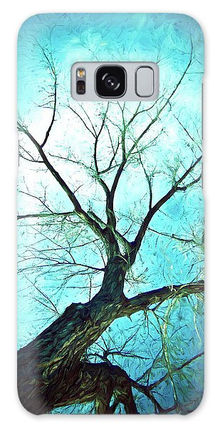 Galaxy Case featuring the photograph Winter Tree Blue  by James BO Insogna