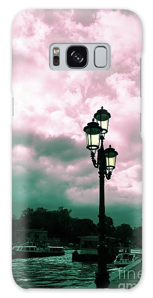 Winter Venice Lantern On The Embankment Galaxy Case