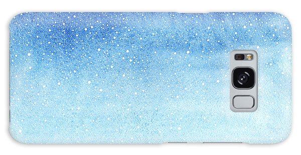 Horizontal Galaxy Case - Winter Watercolor Horizontal Gradient by Rolau Elena