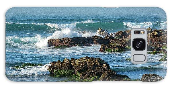Winter Waves Hit Ancient Rocks No. 1 Galaxy Case