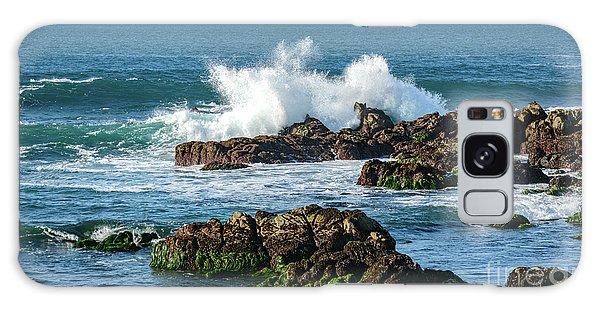 Winter Waves Hit Ancient Rocks No. 2 Galaxy Case