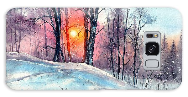 Bush Galaxy Case - Winter Woodland In The Sun by Suzann Sines