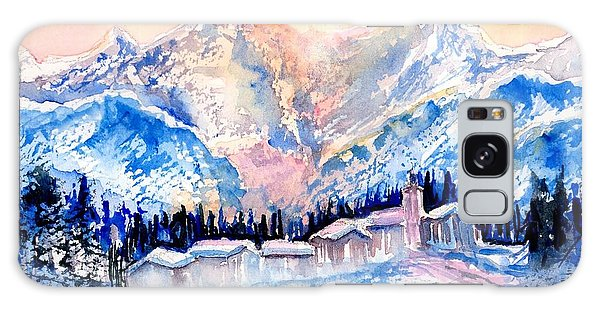Winters Magic Light In The Swiss Alps Galaxy Case