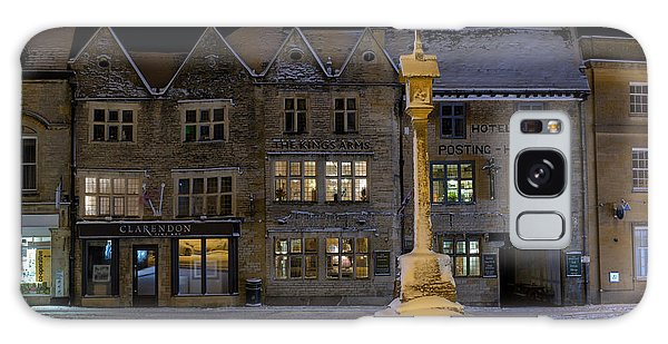 Town Square Galaxy Case - Winters Night In Stow by Tim Gainey