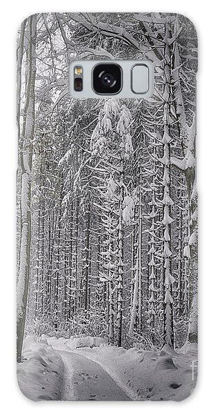 Galaxy Case featuring the photograph Wintry Forest Track by Edmund Nagele