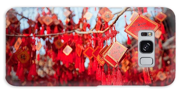 Spirituality Galaxy Case - Wish Cards In A Buddhist Temple In by Tepikina Nastya