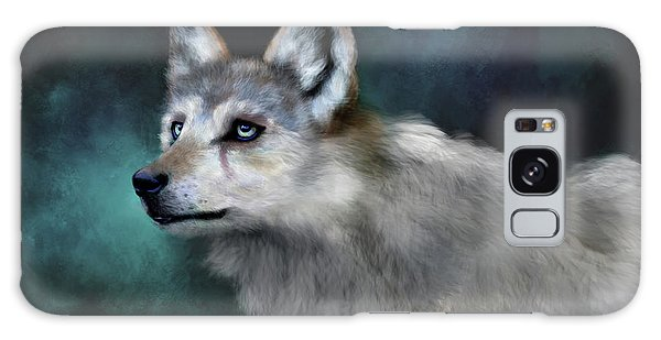 Galaxy Case featuring the digital art Wolf Art by Angela Murdock