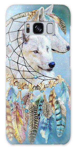 Galaxy Case featuring the mixed media Wolf Dreams by Carol Cavalaris