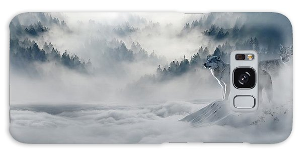 Wolfs In The Snow Galaxy Case
