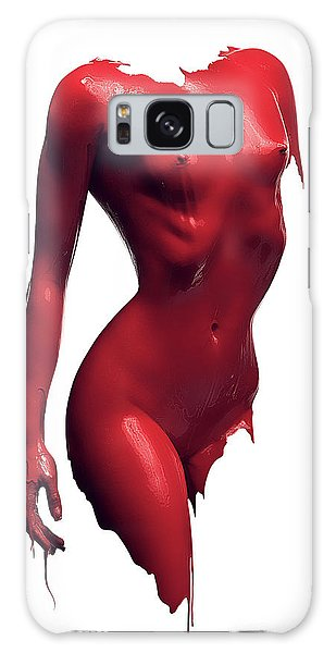 Erotic Galaxy Case - Woman Body Red Paint by Johan Swanepoel