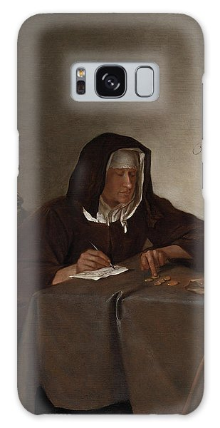 Jan Galaxy Case - Woman Counting Coins by Jan Steen