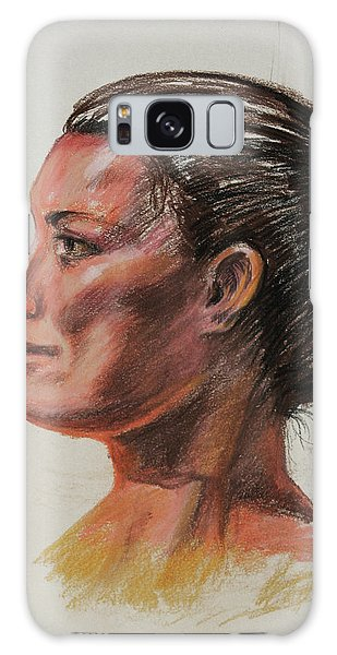 Anatomical Model Galaxy Case - Woman Head Study Pastel Portrait  by Irina Sztukowski