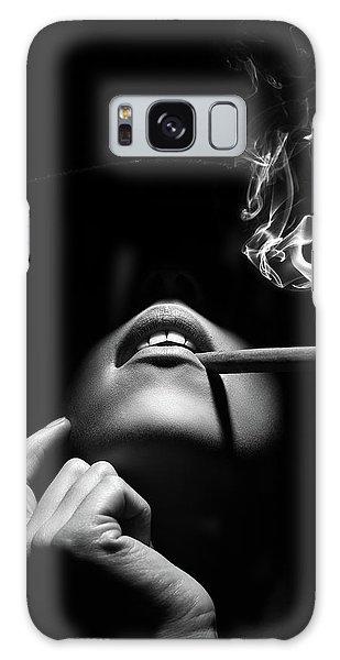 Erotic Galaxy Case - Woman Smoking A Cigar by Johan Swanepoel
