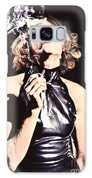Woman Smoking A Cigarette Galaxy Case