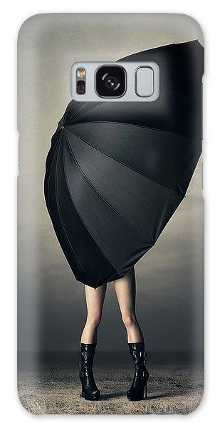 Hiding Galaxy Case - Woman With Huge Umbrella by Johan Swanepoel