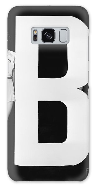 Two People Galaxy Case - Women Waving With Huge Letter B by Everett Collection