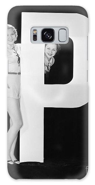 Two People Galaxy Case - Women With Huge Letter P by Everett Collection