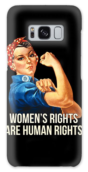 Womens Rights Are Human Rights Tshirt Galaxy Case