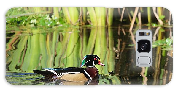 Wood Duck Reflection 1 Galaxy Case