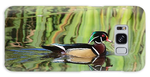 Wood Duck Reflection 2 Galaxy Case