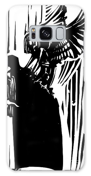 Death Galaxy Case - Woodcut Expressionist Style Image Of A by Jef Thompson