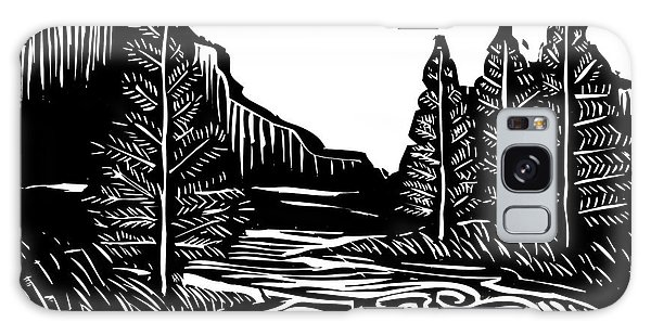 Nature Galaxy Case - Woodcut Style Expressionist Landscape by Jef Thompson