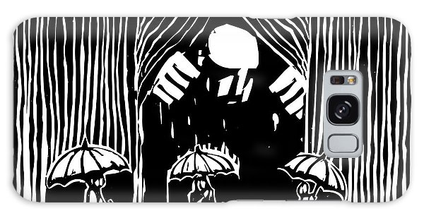Storming Galaxy Case - Woodcut Style Image Of A Giant Man by Jef Thompson