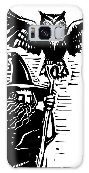 Myth Galaxy Case - Woodcut Style Image Of A Wizard Holding by Jef Thompson