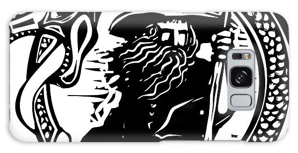 Myth Galaxy Case - Woodcut Style Image Of A Wizard In A An by Jef Thompson