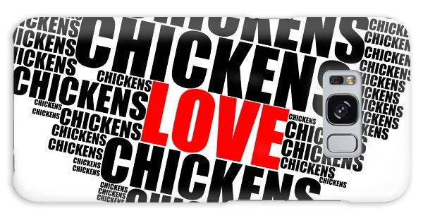 Wordcloud Love Chickens Black Galaxy Case