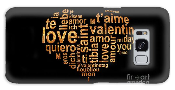 Language Galaxy Case - Words Of Love by Delphimages Photo Creations
