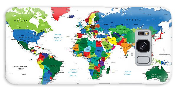 Physical Galaxy Case - World Map-countries by Serban Bogdan