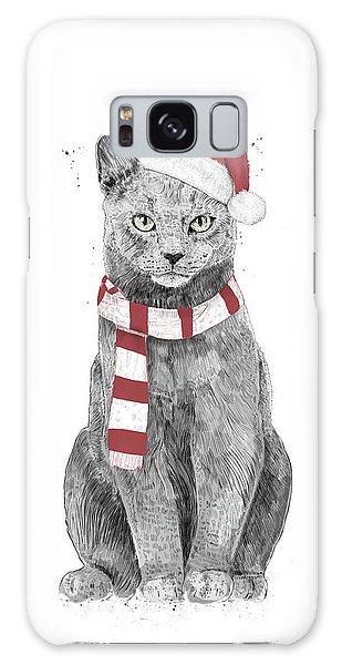 Scarf Galaxy Case - Xmas Cat by Balazs Solti