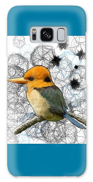 Y Is For Yellow Billed Kingfisher Galaxy Case