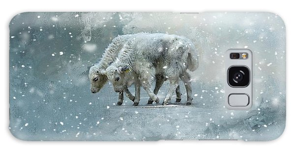 Yaks Calves In A Snowstorm Galaxy Case