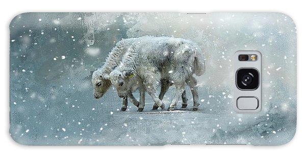 Yaks Calves In A Snowstorm Galaxy Case