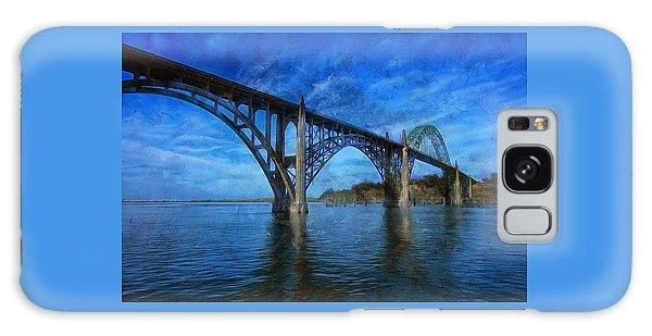 Yaquina Bay Bridge From South Beach Galaxy Case