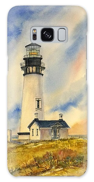 Yaquina Head - Late Afternoon Sunlight Galaxy Case