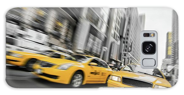 New York City Taxi Galaxy Case - Yellow Cabs In New York by Delphimages Photo Creations