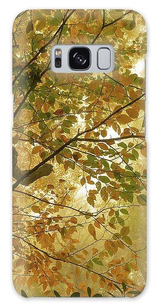 Yellow Fall Leaves - Blue Ridge Parkway Galaxy Case