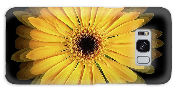 Galaxy Case featuring the photograph Yellow Gerbera Daisy Repetitions by Bill Swartwout Fine Art Photography