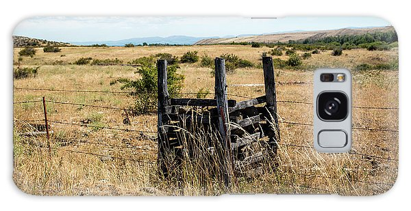 Yellow Grass And Fence Anchor Galaxy Case