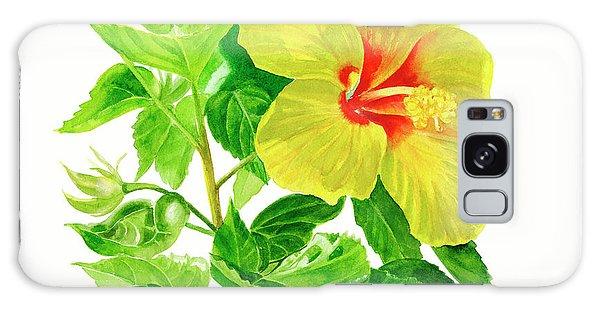 Hibiscus Galaxy Case - Yellow Hibiscus Flower by Sharon Freeman