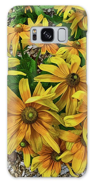 Yellow In Bloom Galaxy Case