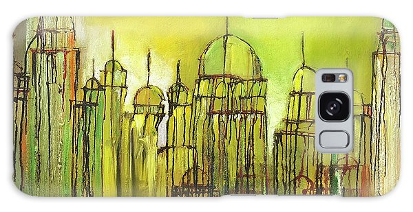 Galaxy Case featuring the painting Yellow Mosque  by Nizar MacNojia