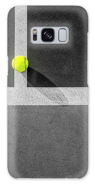 Yellow On The Line Galaxy Case